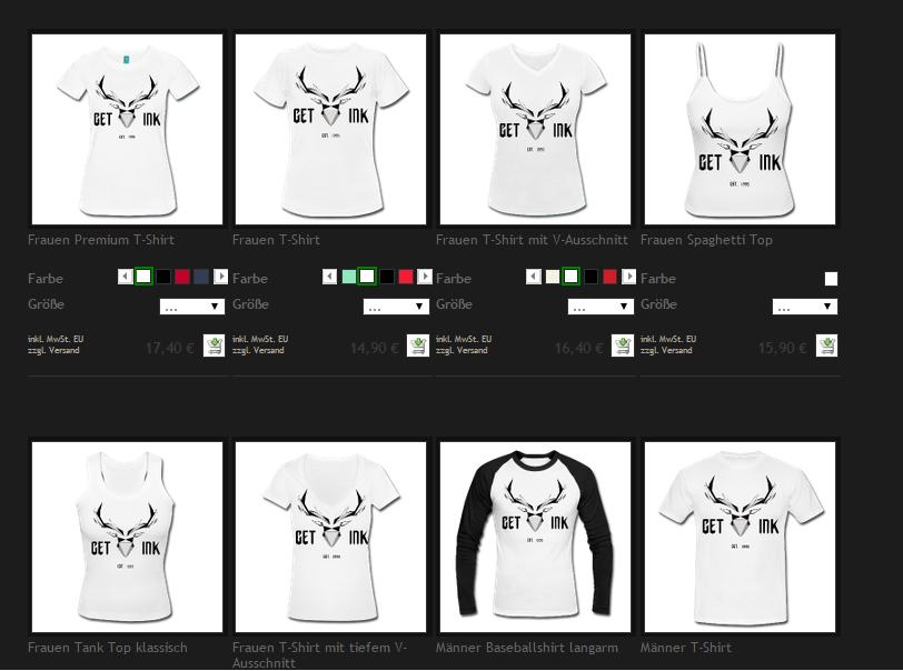 T-shirts mit meinem Design